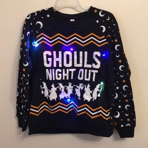 Ghouls night out light up sweatshirt